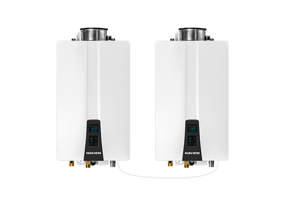 NPN tankless water heaters cascade